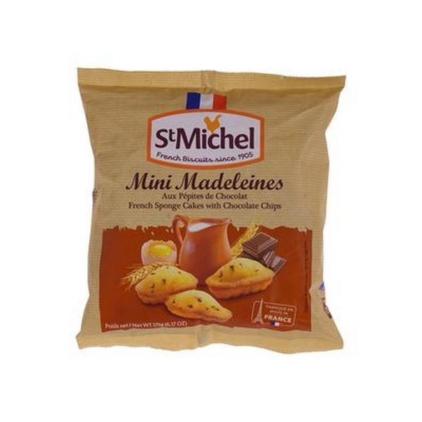 Sušienky Mini madeleines chocolate chips,175g